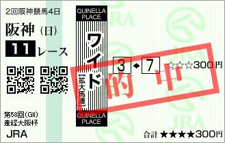 産経大阪杯_的中2