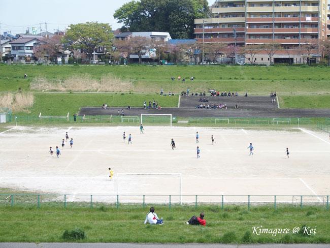 サッカー観戦♪