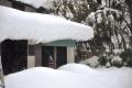 ⑩怖い屋根の雪