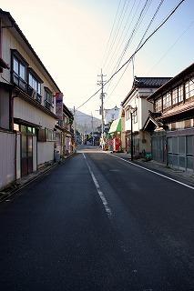 湯田川の町並み