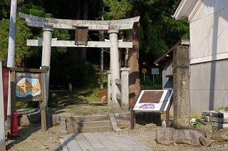 由豆佐売神社の鳥居