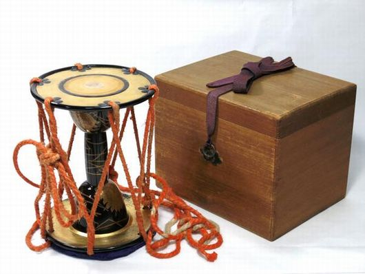 小鼓 蒔絵 和楽器 能楽