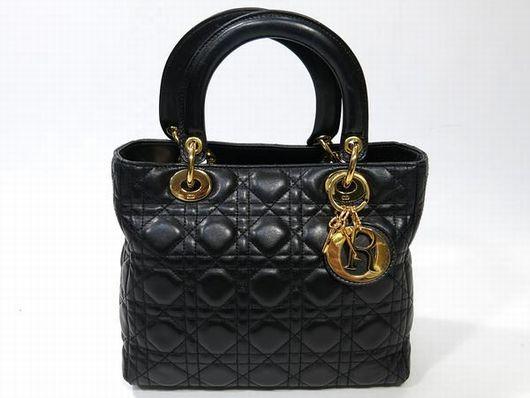 Dior レディディオール レザーハンドバッグ