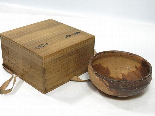 永楽善五郎 保全造 南蛮写 灰器 建水 茶道具