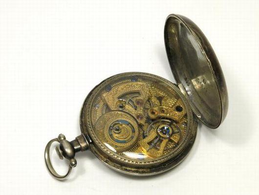 古い 懐中時計 鍵巻式 ジャンク