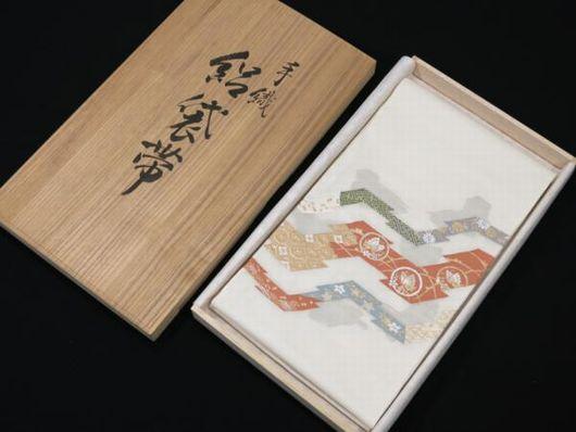 夏物 手織 絽袋帯