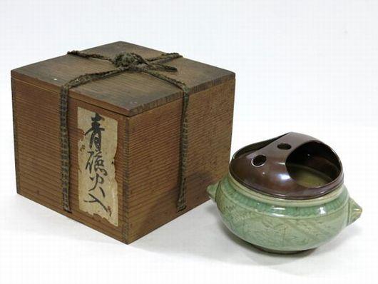 茶道具 青磁 火入 香炉