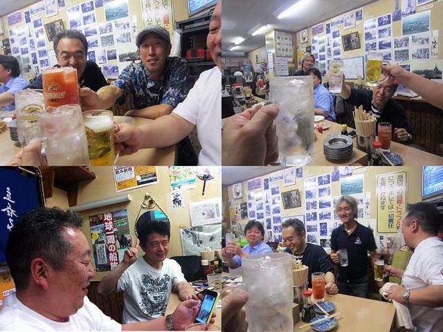 兵庫から新開地の銘店『冨月』へ。INA2011のメンバーと合流ヽ(^o^)丿
