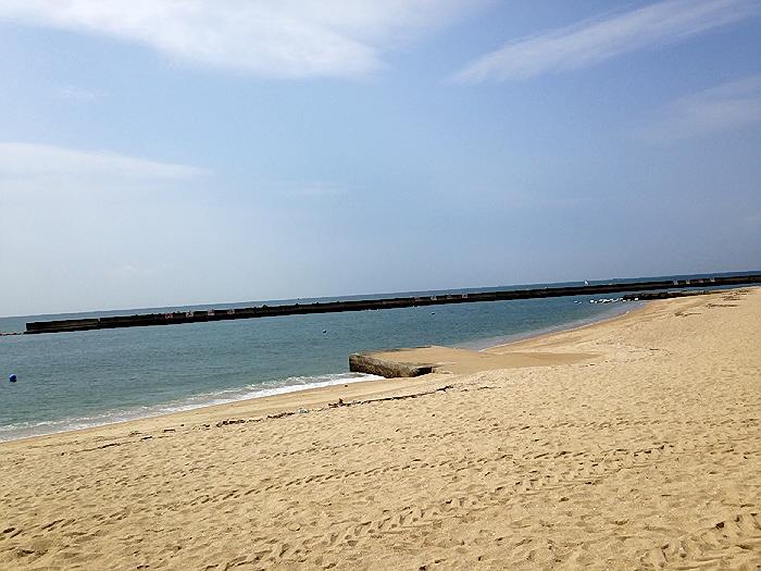 2014.7.11 海開きの翌日。須磨海岸でのんびり(*^_^*)