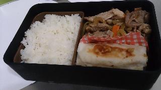 豚肉の野菜炒め&春巻き弁当