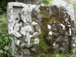 男体山山頂の石仏