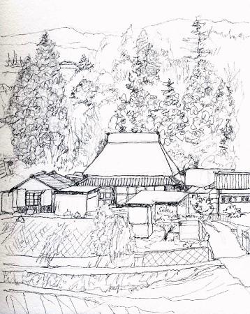 島ヶ原村 線画 (358x450)