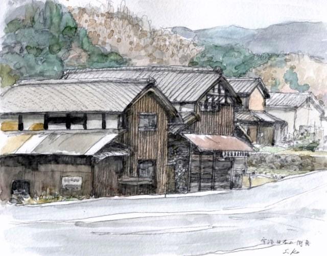 宇治田原の風景 完成(650x515)