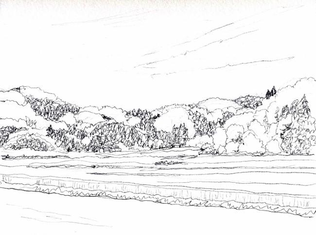 春の里山 デッサン (650x485)