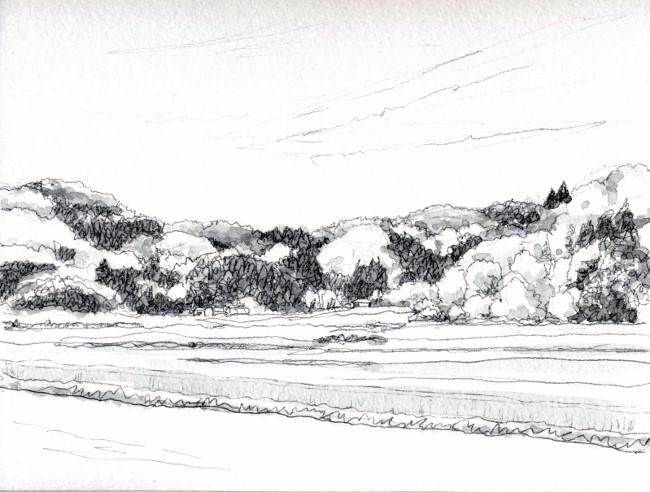 春の里山 グリサイユ (650x492)