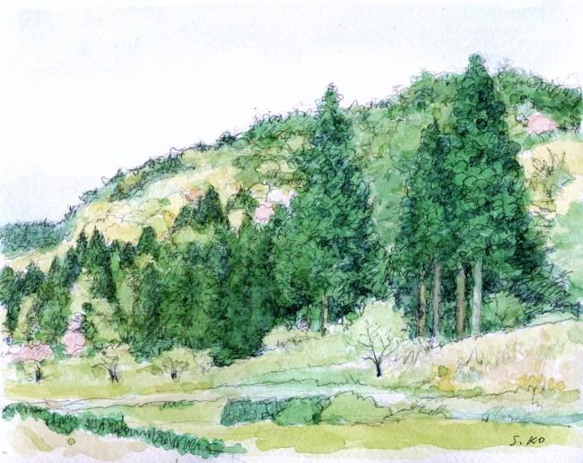春の山能勢路 (650x517)
