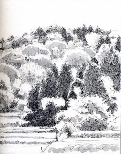 丹波の里山 グリサイユ (392x500)