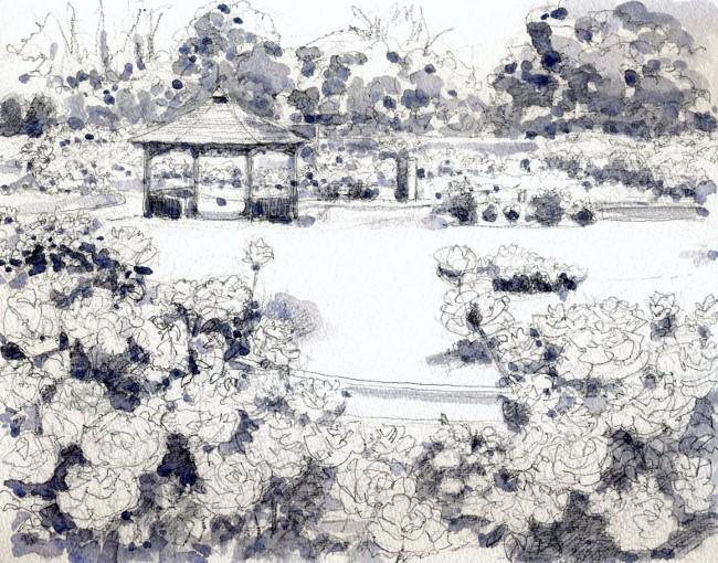 若園公園 モノクロ (650x510)