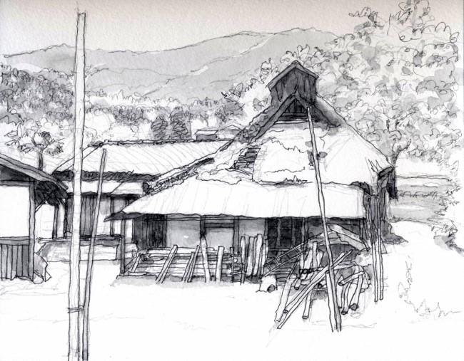 本梅の廃屋 グレー (650x507)