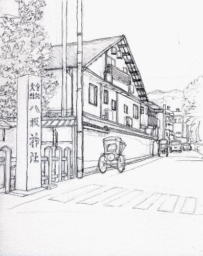 八坂神社裏通り (397x500)