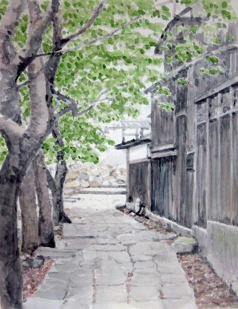 近辺八幡の散歩道 (346x450)