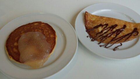 シナモニ皿パンケーキなど