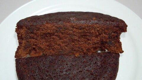 2層のチョコケーキ③