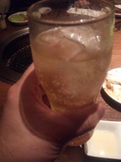 焼肉003 ちなみに今日はビール2杯・ハイボール・梅酒・コークハイを飲みました