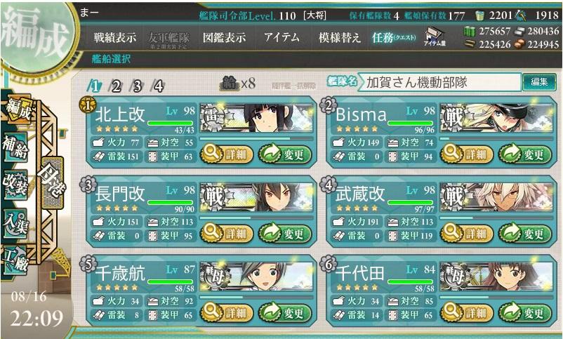 艦これ 2014年8月夏イベント E6攻略艦隊