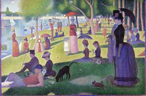 ジョルジュ・スーラ『グランド・ジャット島の日曜日の午後』(1884年〜1886年)