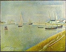 グラヴリーヌの水路、海を臨む