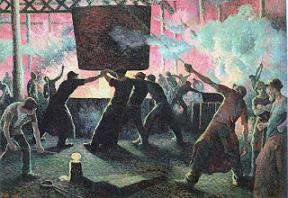 マクシミリアン・リュス『鋳鉄工場』(1899年)