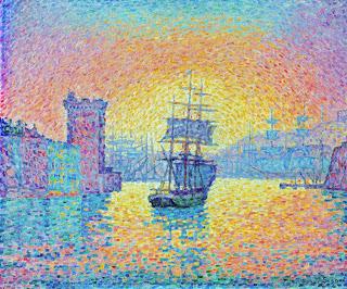 ポール・シニャック『マルセイユ港の入口』(1898年)