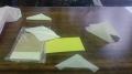 三角紙折り