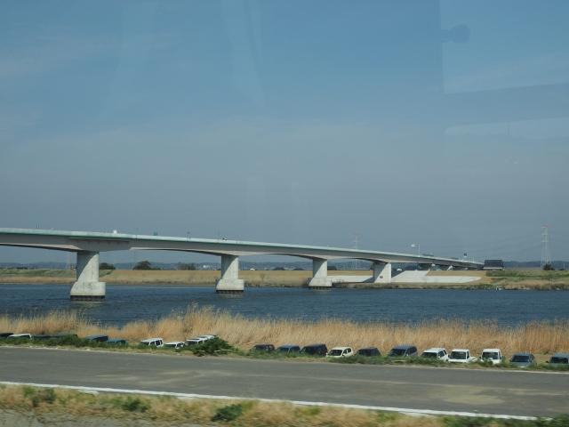 利根川渡河橋。上流にも利根川を渡る区間があるので名称がよくわからない。