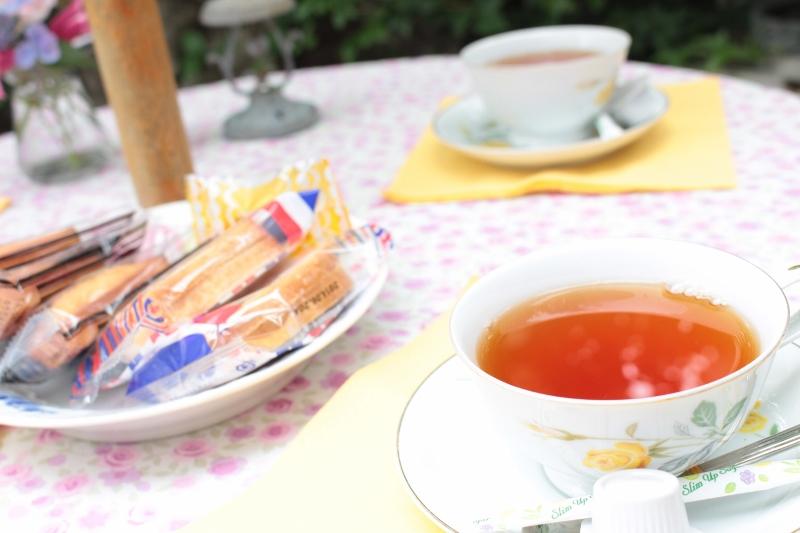 お茶をいただく