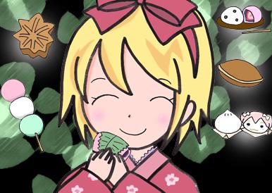 リンと和菓子