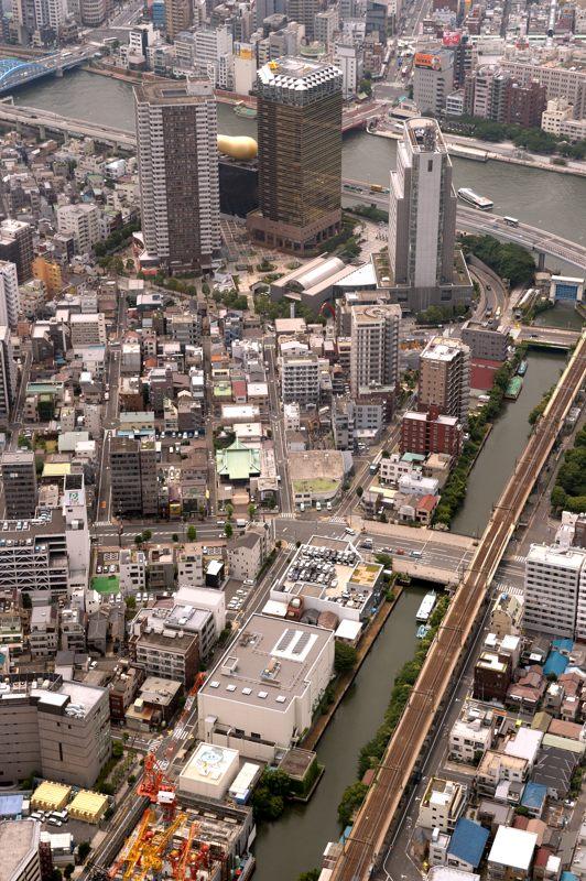 TOKYO SKYTREE 展望台からのアサヒビール方向眺め