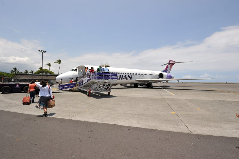 ハワイ KONA International AirportからHAWAIIAN AIRLINESに乗るぞ