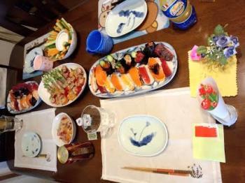 母の日テーブル