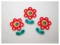 アイロンワッペン-小さな赤い花