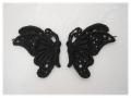 ケミカルレース:向い合った蝶
