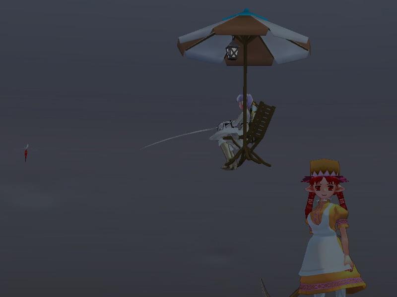 空を飛ぶ釣り