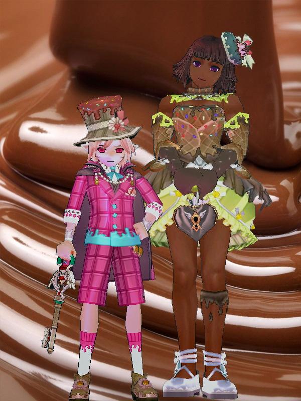 チョコレートジャイアント娘と苺エルフ5