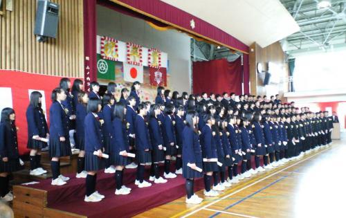 山ノ内中学校第50回卒業式(26.3.19)