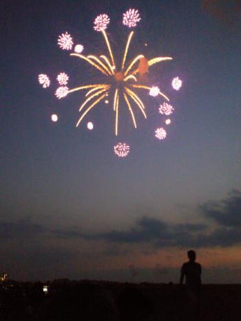 夕空に花火(26.7.26)
