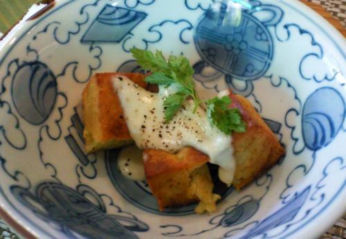 枝豆と馬鈴薯のニョッキ須賀川豆腐のソース(26.7.29)