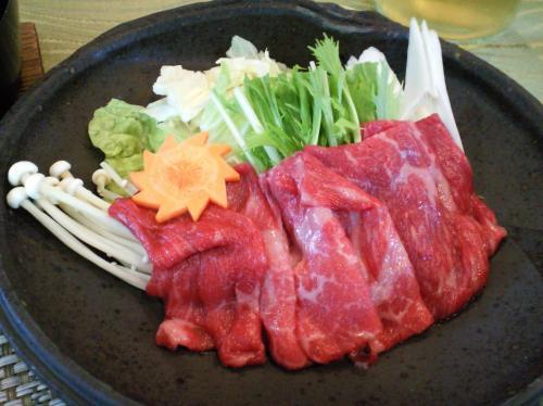 信州牛の蕎麦湯しゃぶしゃぶ(26.7.29)