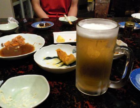 生ビール最後の一杯(26.8.17)