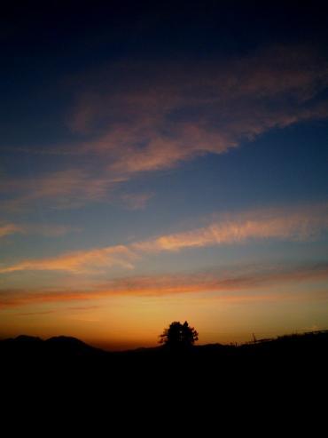 北信五岳の夕焼け(26.5.6)